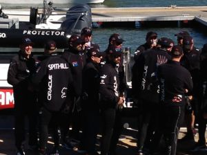 Larry Ellison and Oracle Team upon arrival for awards ceremony