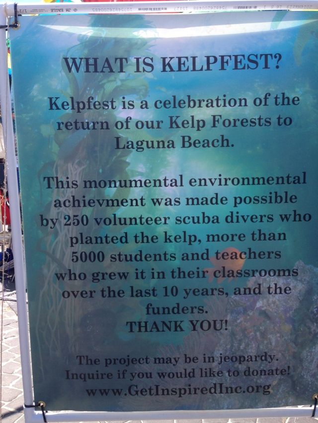 Poster at Kelpfest 2014 explaining things.