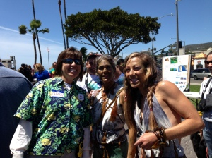 Kelpfest Founder, Nancy Caruso, on left with the kelp dancers