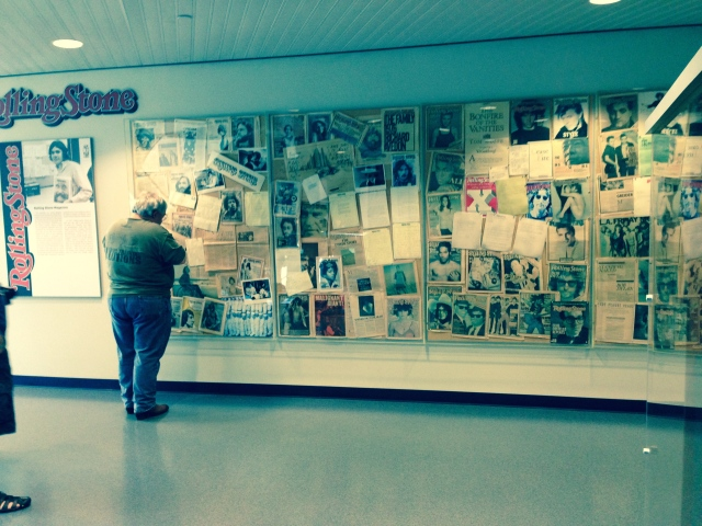 Exhibit of all Rolling Stone magazine covers.  Publisher Jann Wenner is Board Chair of the museum.