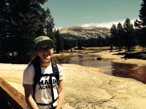 Easy to smile a lot when it's a beautiful day & you're in Yosemite's great Tuolumne Meadows.