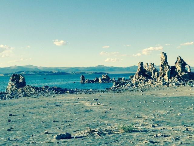 Exposed tufa towers at Mono Lake, CA