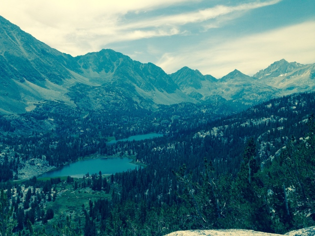 View south over the a portion of the Rock Creek drainage aka Little Lakes Valley