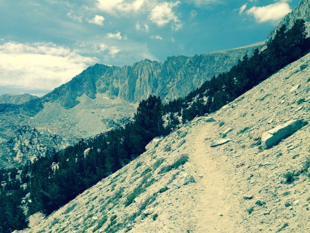 Typical scene on the switchback portion of the Mono Pass Trail