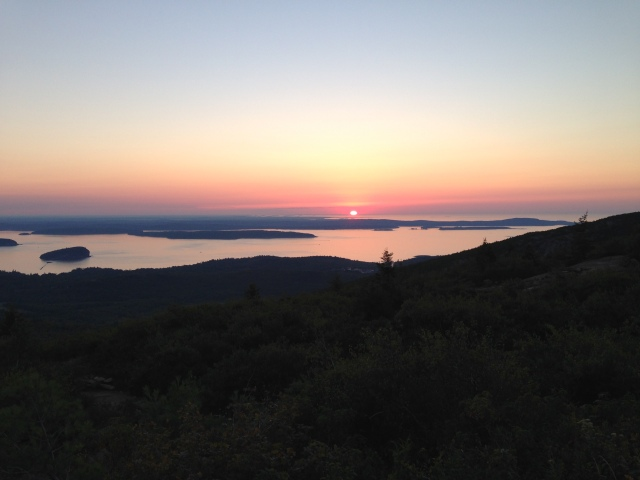 Early September sunrise from Cadillac Mountain, Acadia National Park, Maine