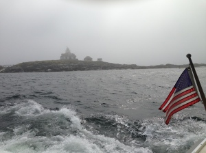 Eggrock Lighthouse is a few miles out of Bar Harbor