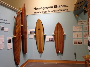 Surfboards and surfing in Maine?  Yes!  This exhibit covers tells it all.