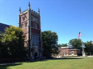 Bowdoin's campus showed really well - this building houses the Arctic Museum.