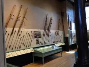 Some of the harpoons on display.