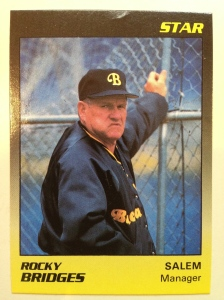 1989 - Manager of the Salem, Virginia Buccaneers, a Pittsburgh Pirate affiliate.