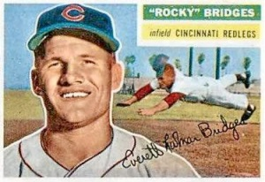 A card I wish I owned! Rocky with the Cincinnati Redlegs, circa 1953.