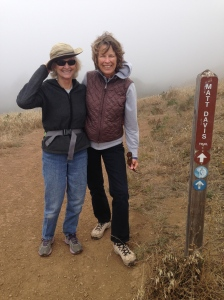 On the Matt Davis Trail, with the fog in background hiding the Pacific.