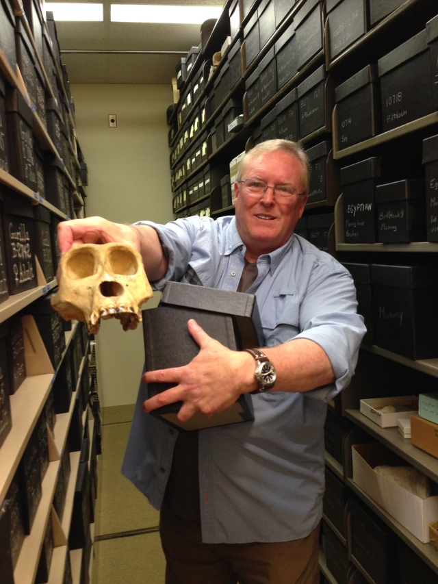 Bruce Latimer, renowned paleoanthropologist, and a portion of the world-class collection at the Cleveland Museum of Natural History