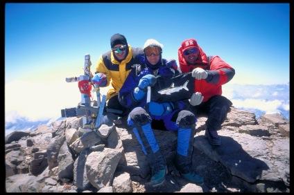 1997 - Aconcagua. Hank, Bob, Les.