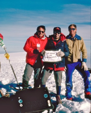 1990 - Hank, Ron & Bob on Kilimanjaro