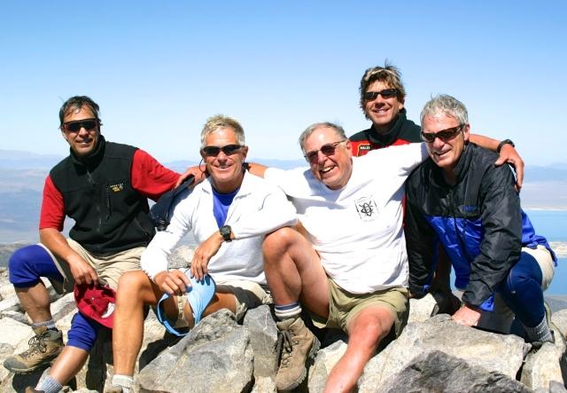 2005 - Mount Dana. Ron, Bob, Krist, Les, Hank.