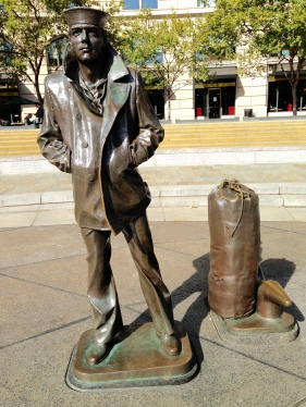 The Lone Sailor of the impressive Navy Memorial